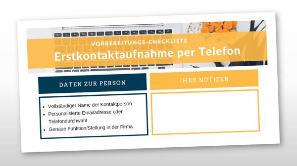 Checkliste Erstkontakt Telefon