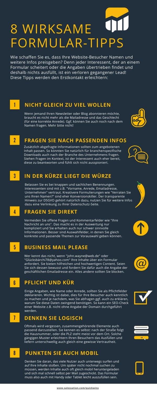 Infografik-8 wirksame Formular Tipps