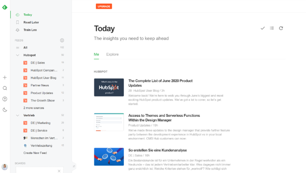 Feedly Tool